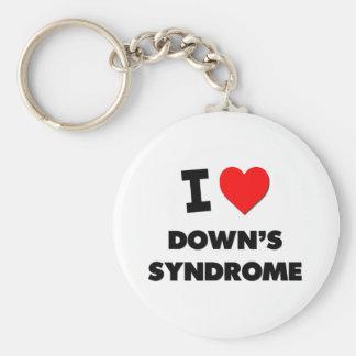 Eu amo Síndrome de Down Chaveiros