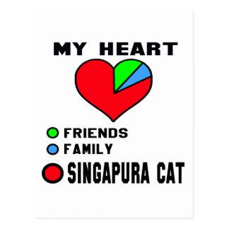 Eu amo Singapura. Cartão Postal
