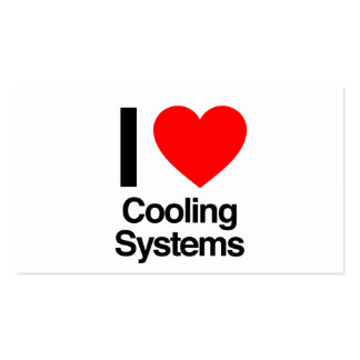 eu amo sistemas de refrigeração cartão de visita