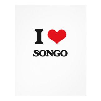 Eu amo SONGO Panfletos
