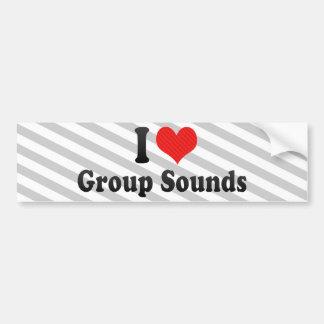 Eu amo sons do grupo adesivos