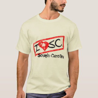 Eu amo South Carolina (o estilo carimbado) Camiseta