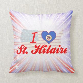 Eu amo St. Hilário, Minnesota Travesseiro De Decoração