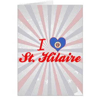 Eu amo St Hilário Minnesota Cartões