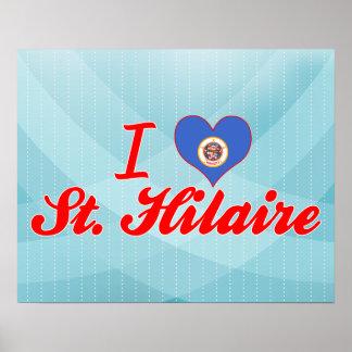 Eu amo St Hilário Minnesota Pôsteres