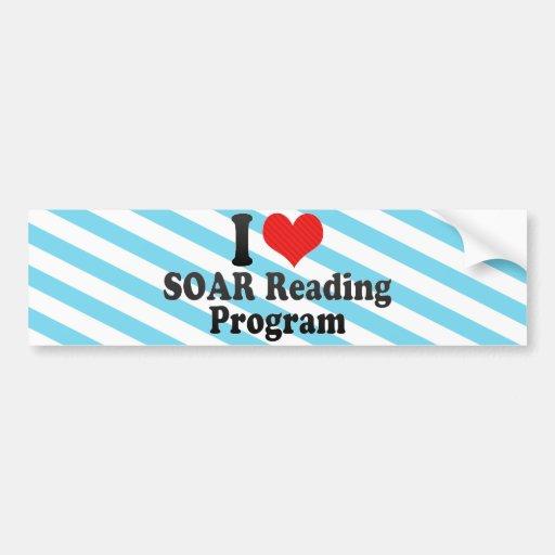 Eu amo SUBO programa de leitura Adesivo