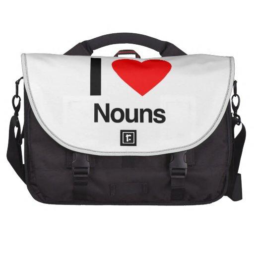 eu amo substantivos maleta para notebook