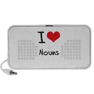 Eu amo substantivos caixinhas de som para laptop