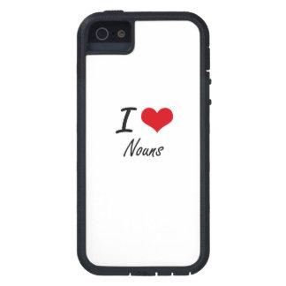 Eu amo substantivos capas para iPhone 5