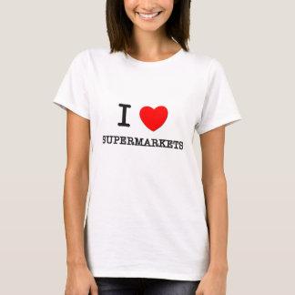 Eu amo supermercados camiseta