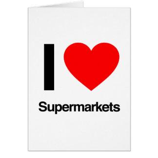 eu amo supermercados cartões