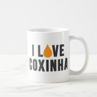 """""""Eu amo t-shirt de Coxinha"""" Caneca De Café"""