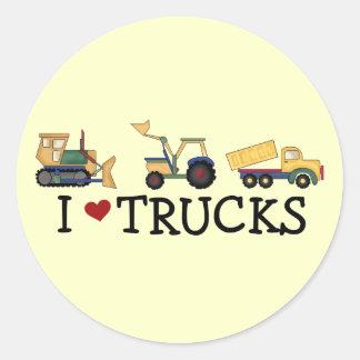Eu amo t-shirt e presentes dos caminhões adesivo