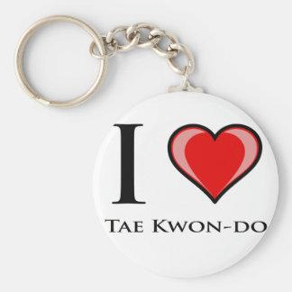 Eu amo Tae Kwon-Faço Chaveiro