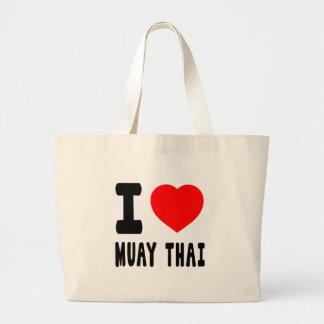 Eu amo tailandês de Muay Bolsa De Lona