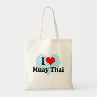 Eu amo tailandês de Muay Bolsas Para Compras