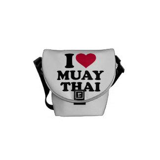 Eu amo tailandês de Muay Bolsas Mensageiro