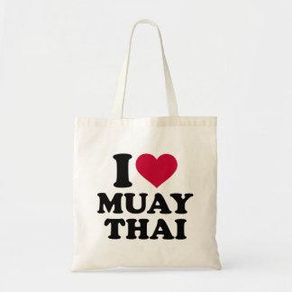 Eu amo tailandês de Muay Sacola Tote Budget