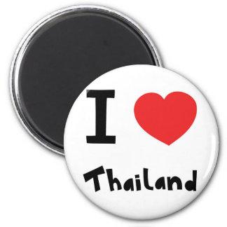 Eu amo Tailândia Ímã Redondo 5.08cm