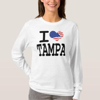 Eu amo Tampa Camiseta