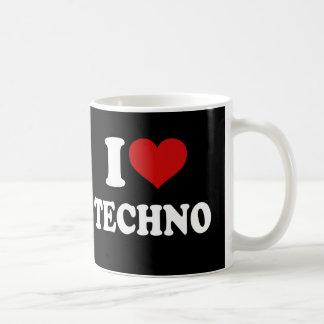 Eu amo Techno Caneca De Café