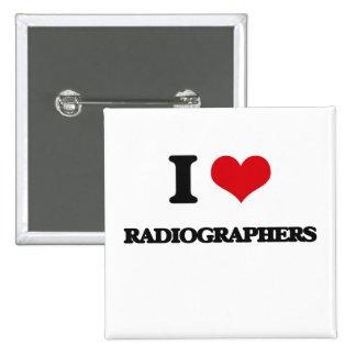 Eu amo técnico de radiologia botons