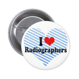 Eu amo técnico de radiologia bóton redondo 5.08cm