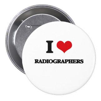 Eu amo técnico de radiologia bóton redondo 7.62cm