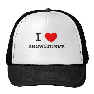 Eu amo tempestades de neve bone