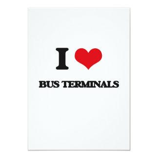 Eu amo terminais de ônibus convite 12.7 x 17.78cm