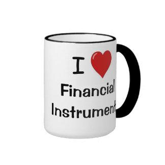 Eu amo termos rudes do investimento dos instrument caneca com contorno