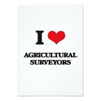 Eu amo topógrafos agrícolas convite personalizado