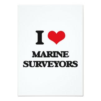 Eu amo topógrafos marinhos convite personalizado