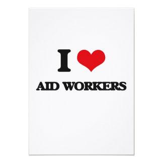 Eu amo trabalhadores de auxílio convite