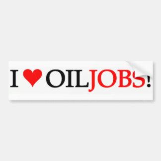 Eu amo trabalhos do óleo! adesivo para carro