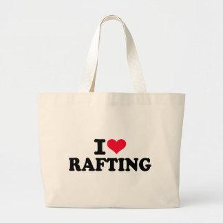 Eu amo transportar bolsas de lona