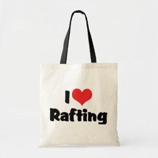 Eu amo transportar bolsa para compras