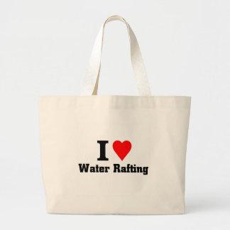 eu amo transportar da água bolsa de lona