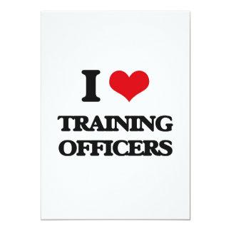 Eu amo treinar oficiais convite 12.7 x 17.78cm