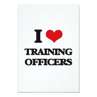 Eu amo treinar oficiais convite personalizado