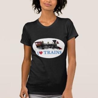 Eu amo trens t-shirt