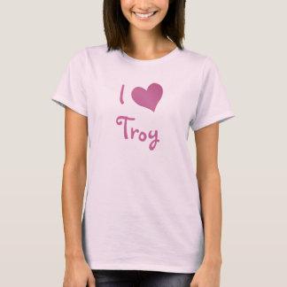 Eu amo Troy Camiseta