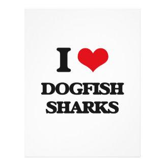 Eu amo tubarões das cações panfleto coloridos