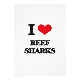 Eu amo tubarões do recife convites personalizados