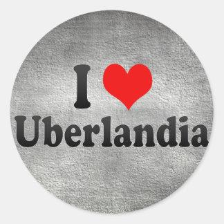 Eu amo Uberlandia, Brasil Adesivo