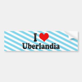 Eu amo Uberlandia, Brasil Adesivo Para Carro