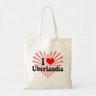Eu amo Uberlandia, Brasil Sacola Tote Budget