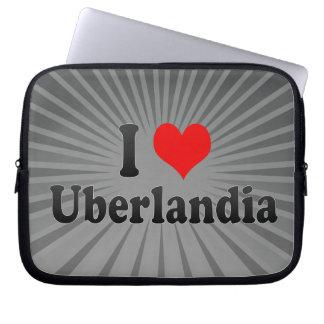 Eu amo Uberlandia, Brasil Bolsa E Capa Para Computadore