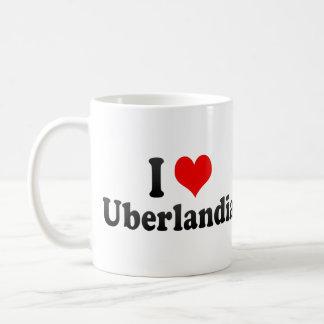 Eu amo Uberlandia, Brasil Caneca De Café