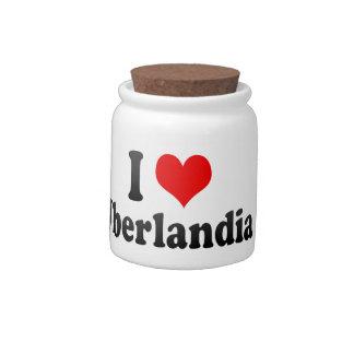 Eu amo Uberlandia Brasil Jarro De Doce